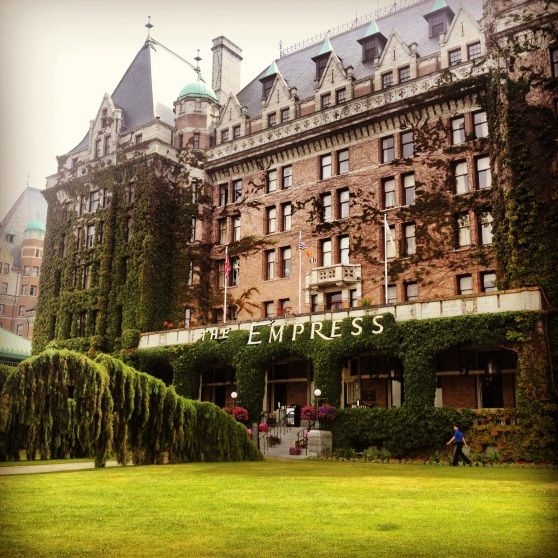 the stateliest hotel in victoria, british columbia.