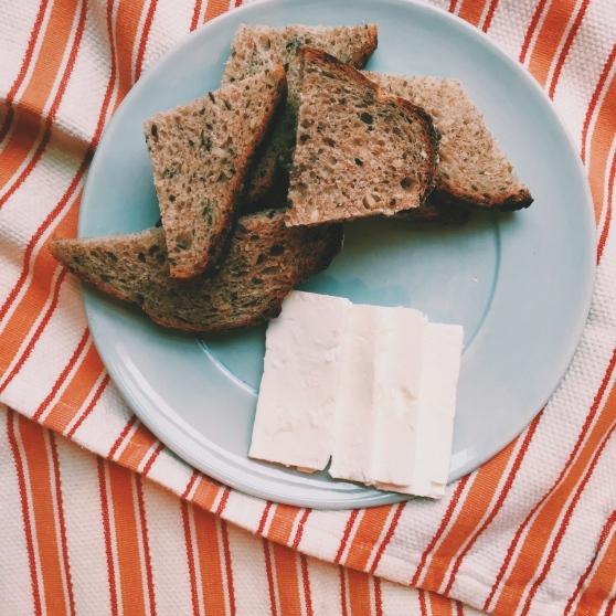 healthy snack bread feta