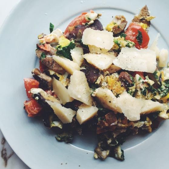 healthy egg scramble